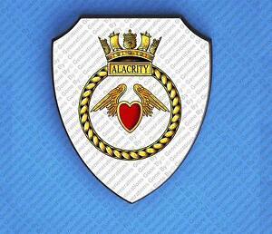 HMS ALACRITY (1974) WALL SHIELD
