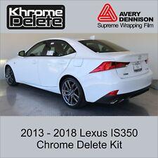 Chrome Delete Kit fitting the 2013-2018 Lexus IS350