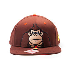 Oficial SUPER MARIO BROS es en como Donkey Kong Marrón Snapback Cap Hat (nuevo)