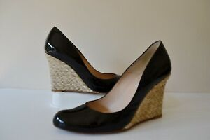 L.K.BENNETT MADDOX BLACK PATENT LEATHER/LEATHER LINED COURT SHOES UK 4.5 RRP£195