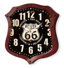 Orologio Vintage da parete metallo Route 66 nero rosso
