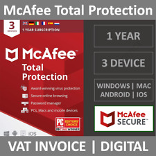 McAfee Total Protection 2021 | 3 Devices | 1 Year | PC/Mac/Phone | Security