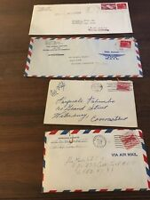 Vintage 6 & 8 Cent Air Mail Postage Stamps Lot of 4