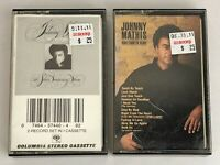 Lot of 2 JOHNNY MATHIS Cassette Tapes ~ Right From The Heart, The First 25 Years