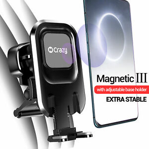 Car Holder Mount Phone Dock Air Vent Magnetic Double Support for iPhone Galaxy