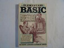 BASIC PROGRAMMING BOOK - Elementary Basic by Ledgard & Singer