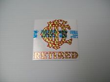 """Chicago Fire Department Decal Letter Nest Retired Gold and Red 4"""""""
