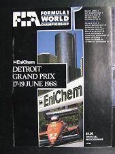 Program Detroit Grand Prix F1 1988 17-19 June (Detroit USA) (PBE)