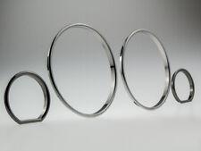 Black-Chrom Tachoringe Dial-Rings Tacho Ringe passend für BMW E32 E34 M5 CLIPSEN
