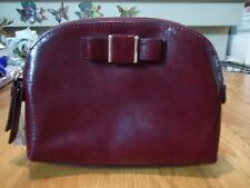 Coach Cherry Leather Bow Accent F 52140 Cosmetic Bag  NWT $ 78