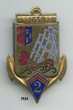Insigne troupes coloniales ,  2  RIC.  , ( fumée rouge )