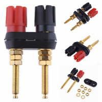 Dual 2-way Banana Plug Jack Terminal Extended Binding Post for Speaker Amplifier