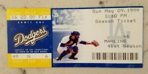 Los Angeles Dodgers Florida Marlins Baseball Ticket 5/9 1999 Floyd HR 41 Stub