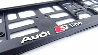 Audi S-LINE 2x License Plate Holder 3D I I New Hit Surrounds I