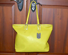 New $675 Authentic Longchamp LM Cuir Lemon Zip Shoulder Tote Bag Medium