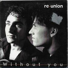 """Re-Union """"Without you"""" Eurovision 2004 Netherlands 2 track sleeve sticker resedu"""