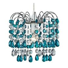 Contemporary Pendant Shade with Teal Acrylic Droplets by Happy Homewares