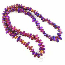 Purple Frosted Hematite Freeform Pendant Loose Bead 15.5 inch 5-10mm 381TS