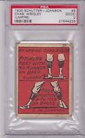 1935 Schutter-Johnson #9 CHAS WRIGLEY PSA 2 Good HOF Baseball Card