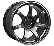 XXR 551 15X8 4x100/114.3 +21 Chromium Black Wheel Fits 4Lug Civic Jetta Miata Xb