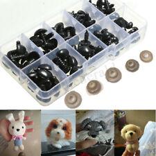 100stk 8mm 9mm 11mm 13.5mm 15mm Sicherheitsnasen Set Teddynase Tier Puppe Nase