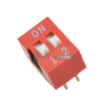 50pcs Red Pitch 2-Positions Way Slide Type DIP Switch Module NEW 2.54MM