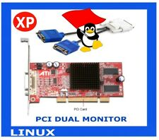 DUAL VGA MONITORS PCI Video Card  ATI FireMV 2200 64MB +Adapter Cable