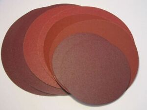 """200mm (8"""") Alum. Oxide Sanding Discs - S/ADHESIVE or HOOK & LOOP -Various Grits"""