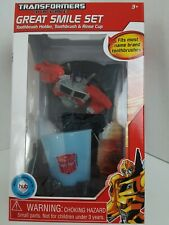 2012 Transformers Prime Great Smile Set Toothbrush Holder and Rinse Cup 3 & Up
