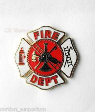 USA FIREFIGHTER FIRE DEPT MEDALLION SHIELD LAPEL PIN BADGE 1 INCH