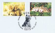 BRD 2014: Tierkinder Fuchs und Igel Nr. 3047+3048 mit Bonner Sonderstempel! 1703