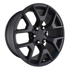"""4 NEW 2014 GMC Sierra Wheels 20x9 Matte Black OE 20"""" Silverado Denali Tahoe"""