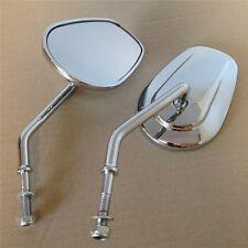 Chrome Rearview Side Mirrors For Harley Davidson FLSTC FXDB DYNA FXDF FLSTF 8mm