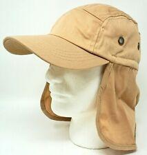 Outdoor Summer Sport Cap Hat Long Neck Ear Flap Cover Khaki Beige OSFM New