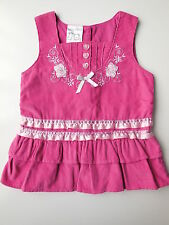 AS NEW Baby Baby girl pink corduroy dress size 0 Fits 6-12 mths