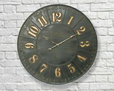 Extra Large Vintage Style 79cm Iron Industrial Numerical Display Wall Clock