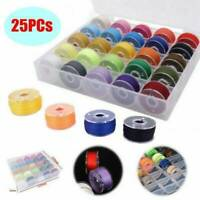 25X Sewing Machine Bobbins Thread Spools Case With Threads for Sewing Machine YK