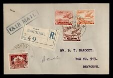 DR WHO 1949 IRAQ BAGHDAD AIRMAIL TO LEBANON  C233118