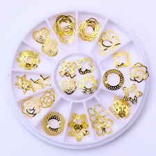 Star Nail Rhinestones Gold Alloy Rivet Maincure DIY Nail Art Decoration in Wheel