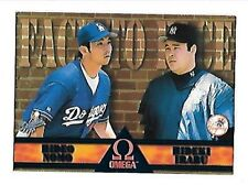 HIDEO NOMO 1998 OMEGA FACE TO FACE #9 LOS ANGELES DODGERS FREE COMBINE S/H