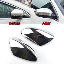 2Pcs Triple Chrome Door Mirror Covers Fit For VW Passat B7 CC EOS Scirocco Jetta