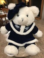 "Tb Trading Company Dan Dee Snowflake White Plush Bear Stuffed 2000 20"""