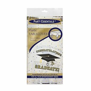 1 of Party Essentials 54? X 108? Rectangular Table Covers – Graduation