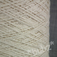 ECRU UNDYED 3/6 NE PURE COTTON YARN BIG 500g CONE 10 BALLS KNIT WEAVING CROCHET