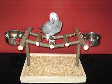 TISCH FREISITZ aus HOLZ für PAPAGEIEN KÄFIG VOLIERE Papageienspielzeug 25cm NEU