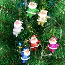 6pcs/set Mini Santa Claus Hanging Ornament Festival Christmas Tree Decor