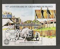 Central African Republic SC # 475 Grand Prix De France 75th Anniversary. SS.MNH