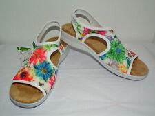 Flexus by Spring Step Women's WHITE Nyaman-Bouquet SZ 8 1/2 (US) Sandals NWT