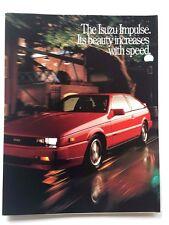 1989 Isuzu Impulse Original Car Sales Brochure Catalog - Lotus Turbo
