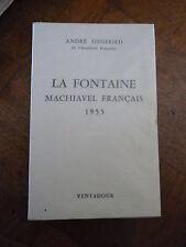 Siegfred André La fontaine Machiavel Français numéroté grand papier